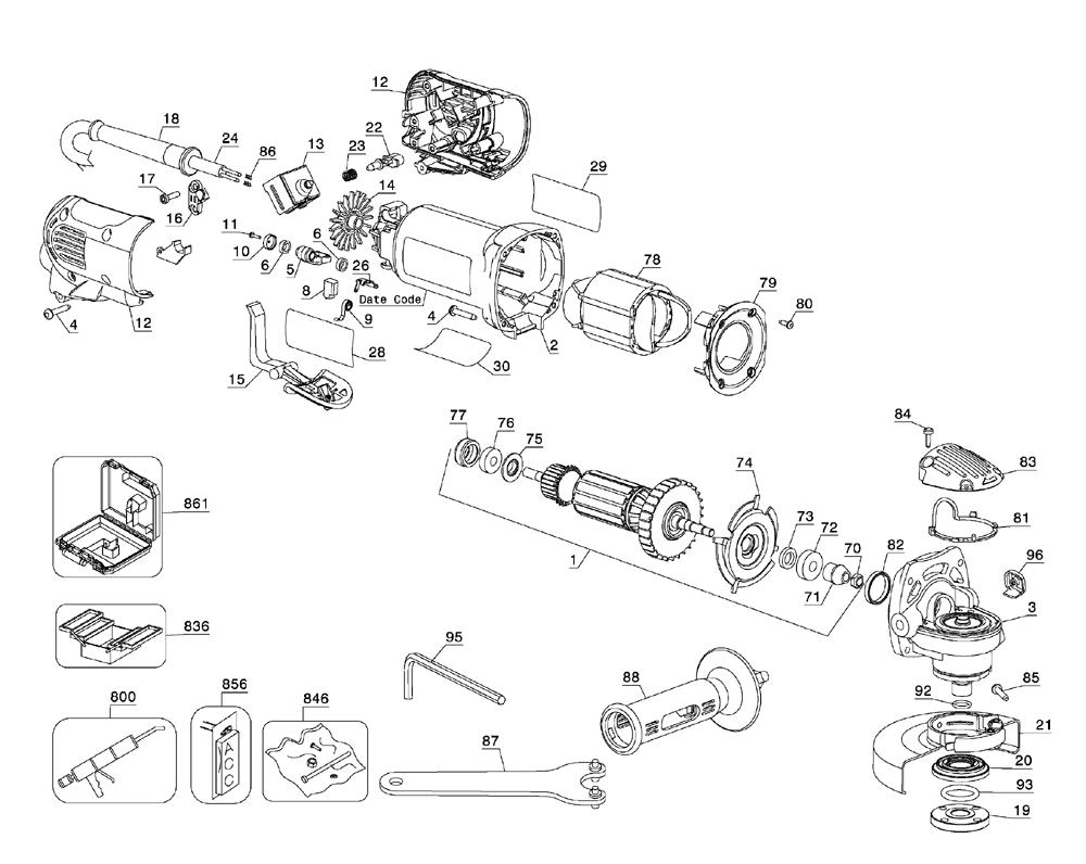 New N127078 Gear Case Assembly for Dewalt
