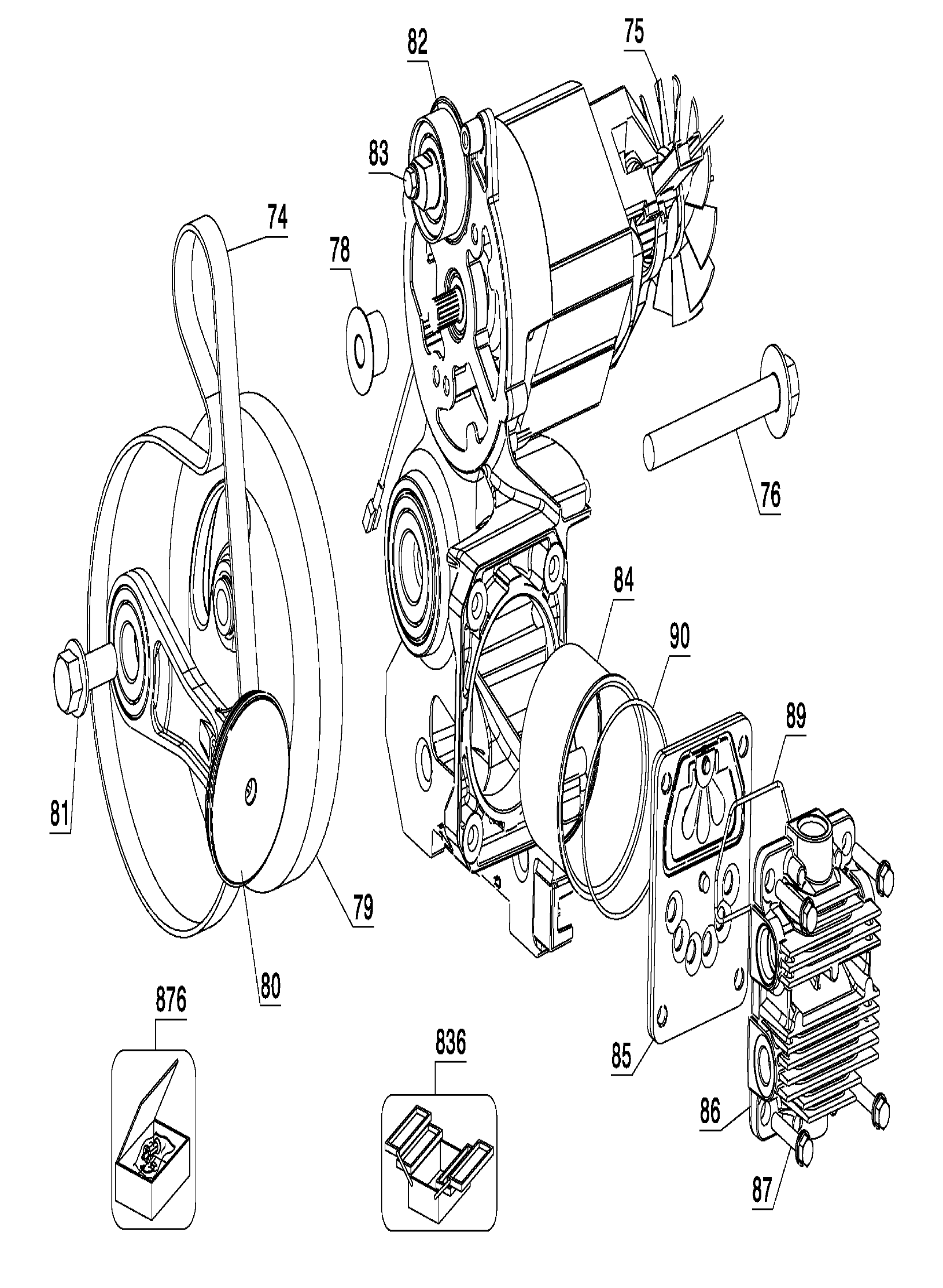 DeWalt D55168 Type-5 Parts Schematic