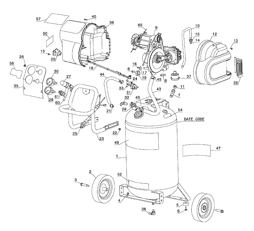 Dewalt D55168 Type-6 Parts Schematic