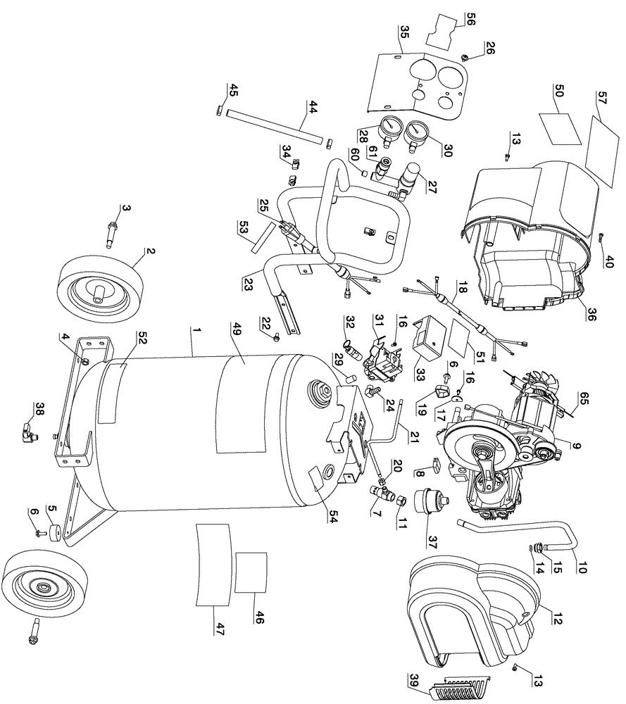 dewalt d55168 type1 parts schematic