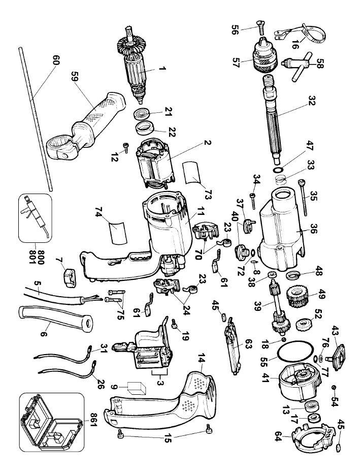 dewalt hammer drill wiring diagram   34 wiring diagram