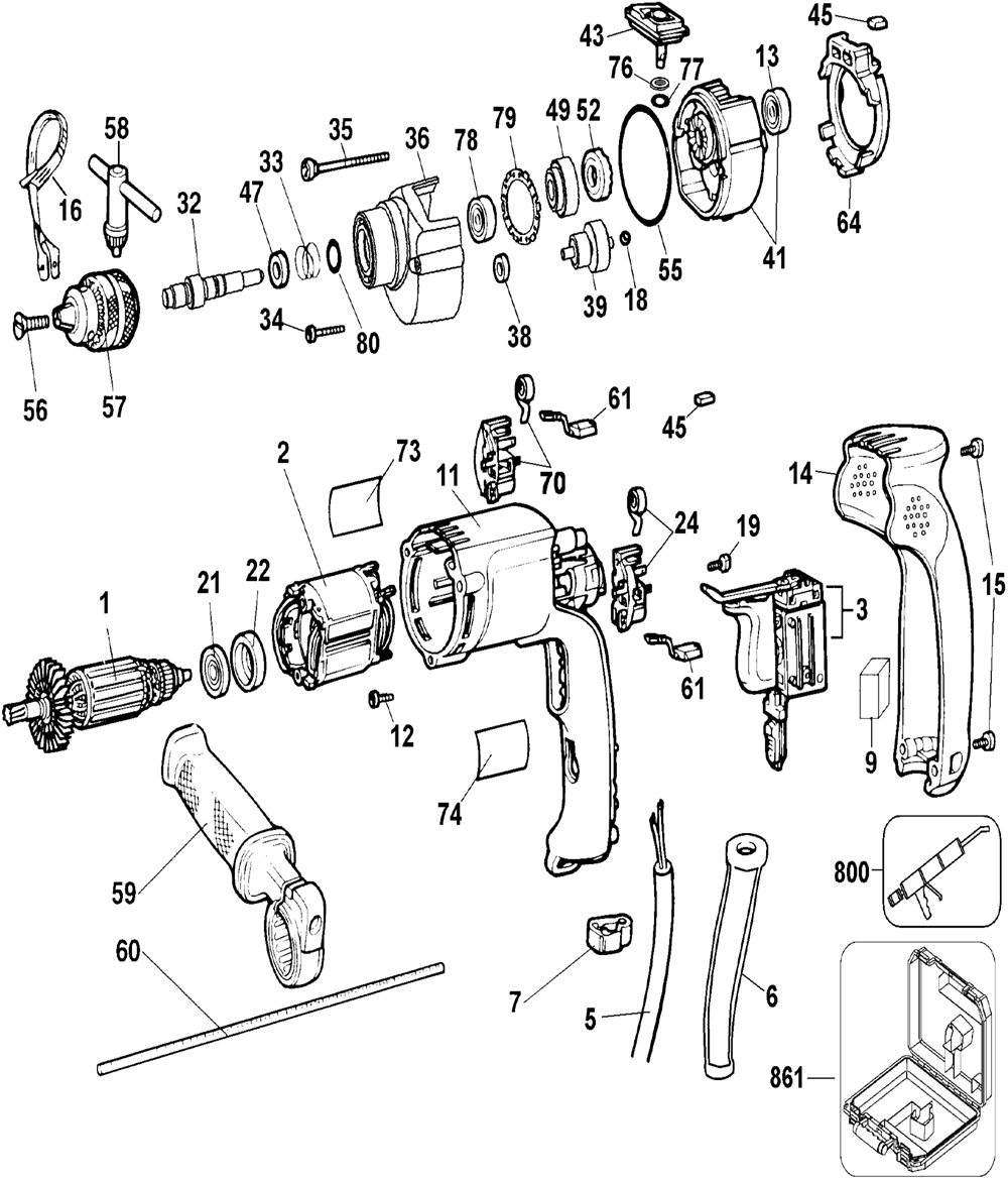 Electric Drill Wiring Schematic 31 Diagram Images Dc Free Picture Dw511 T3 Dewalt Pb Buy Type 3 Heavy Duty 1 2 Inch 13mm