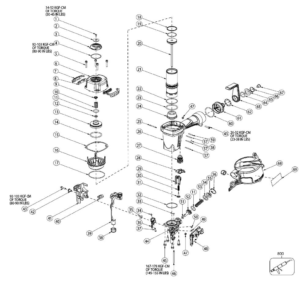 Buy Dewalt Dw66c 1 Type 0 2 Inch 15 Degree Coil Siding And Gun Diagram Parts Schematic