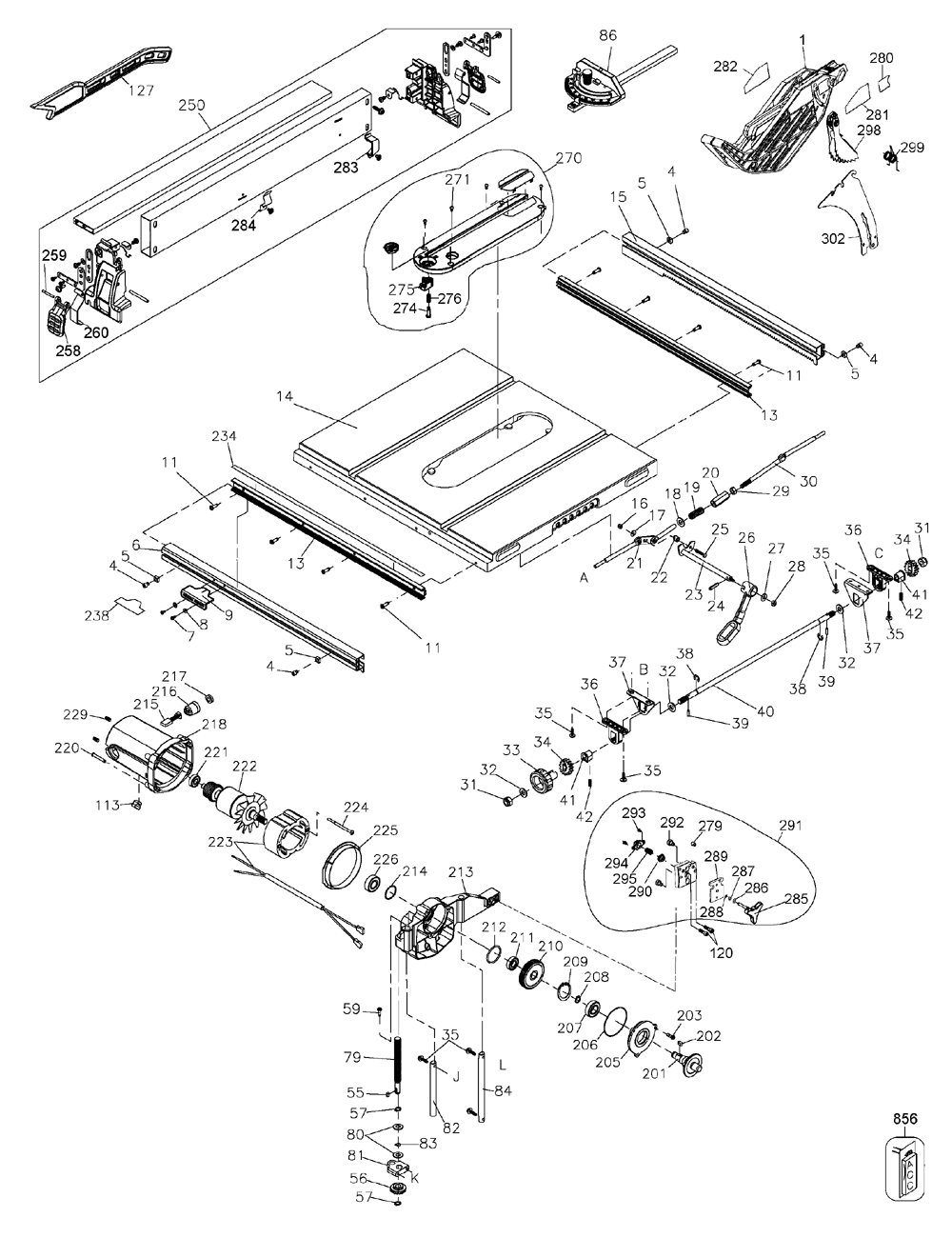 dewalt dwe7480 type20 parts schematic