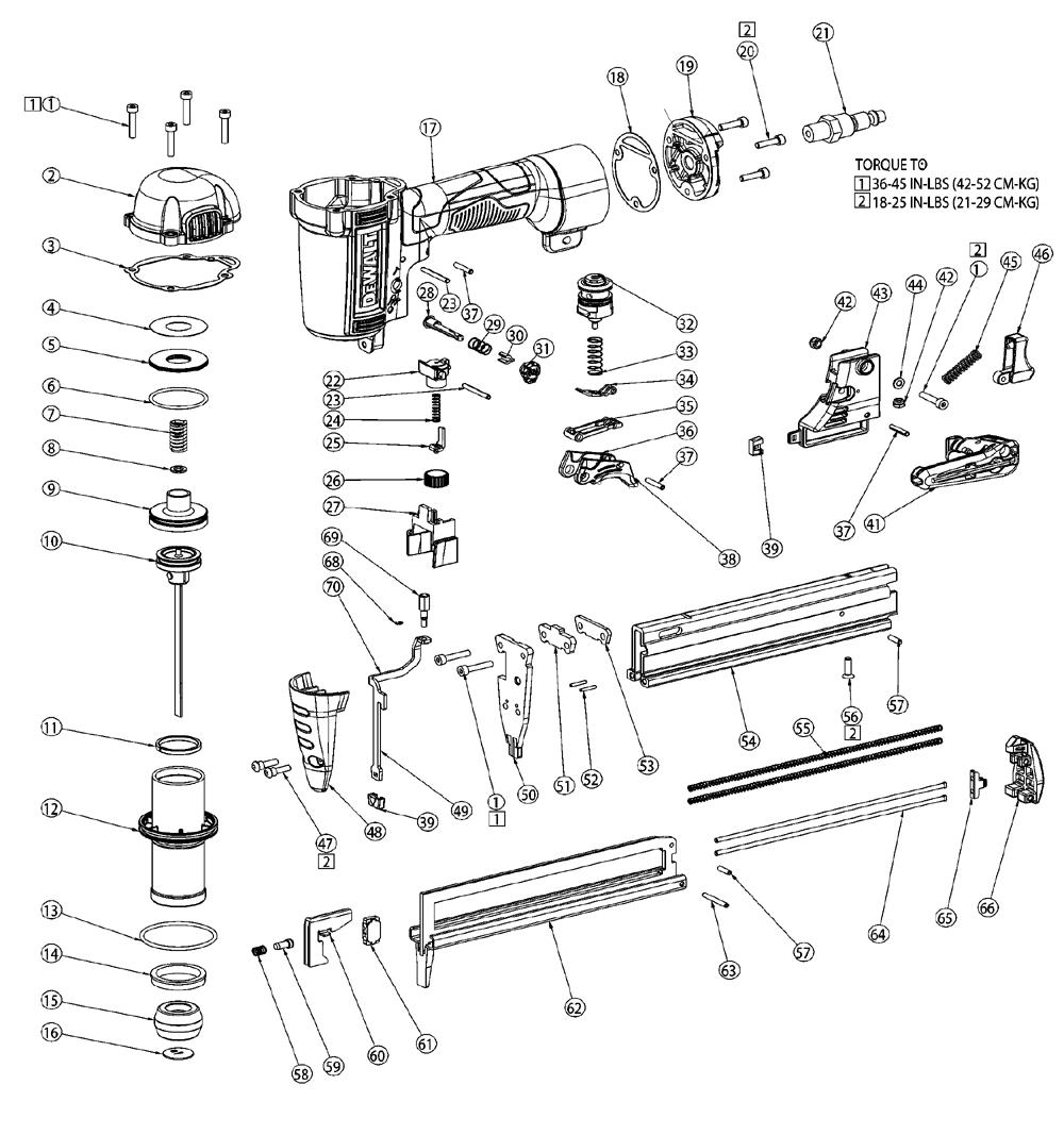 buy dewalt dwfp1838 type 4 in  crown 1 2 in  finish stapler replacement tool