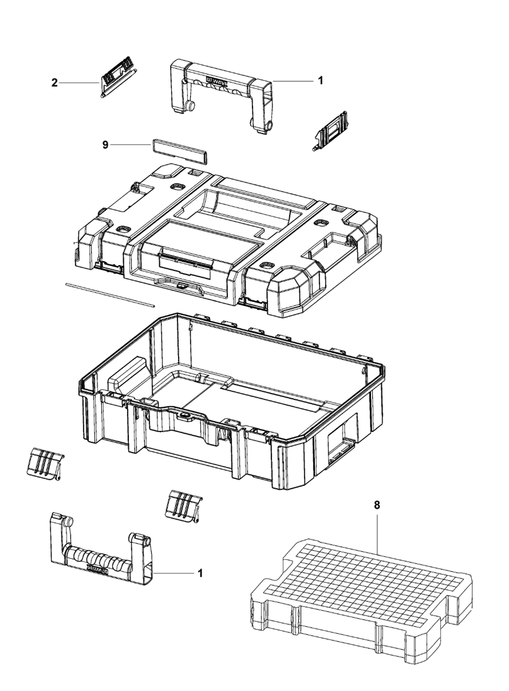 Buy Dewalt Dwst17807 Type 0 Tstak Case Flat Top Replacement Wilton 846 Parts List And Diagram Ereplacementpartscom Schematic