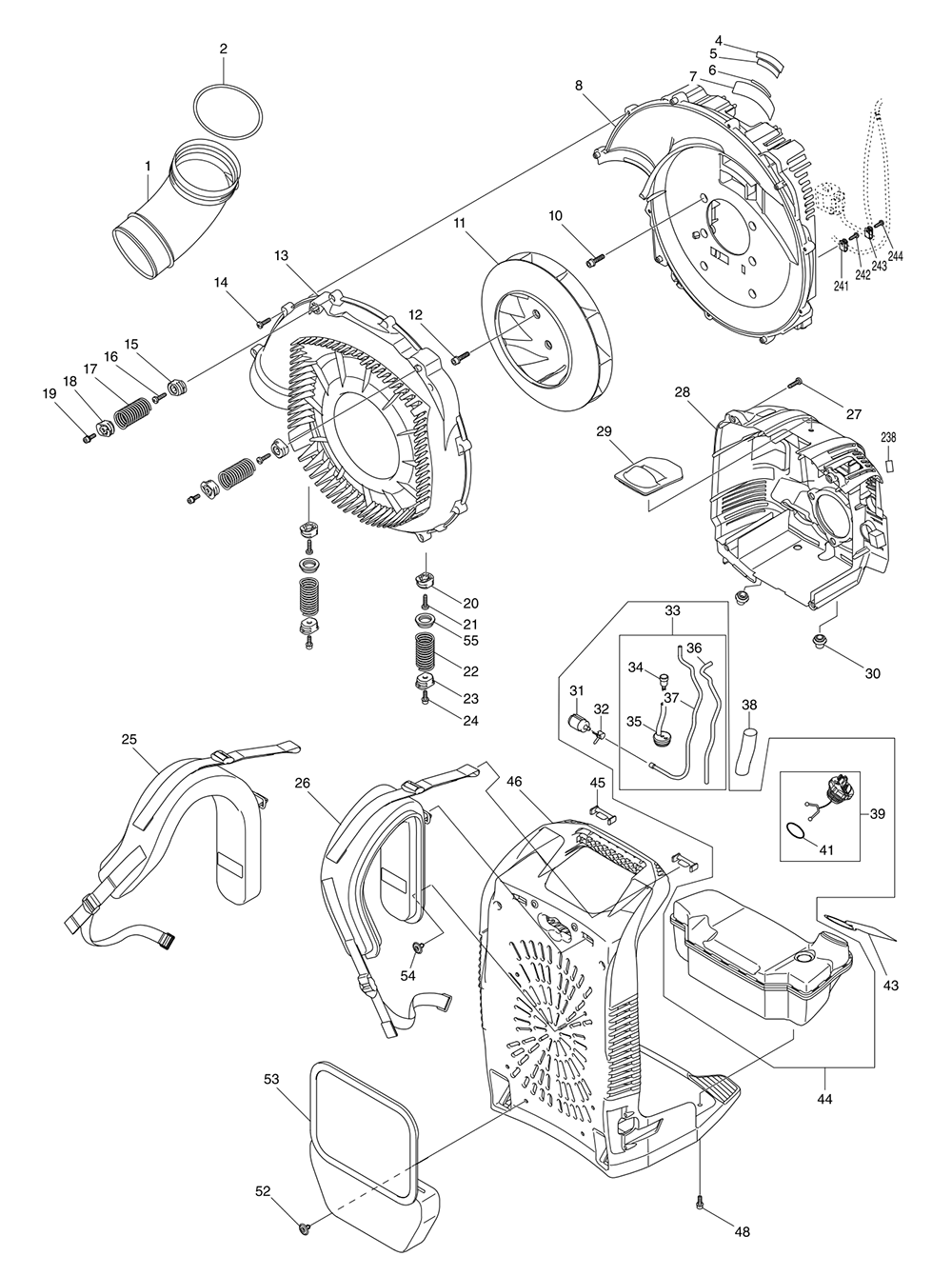 Jet Jbj2 Parts List And Diagram Ereplacementpartscom