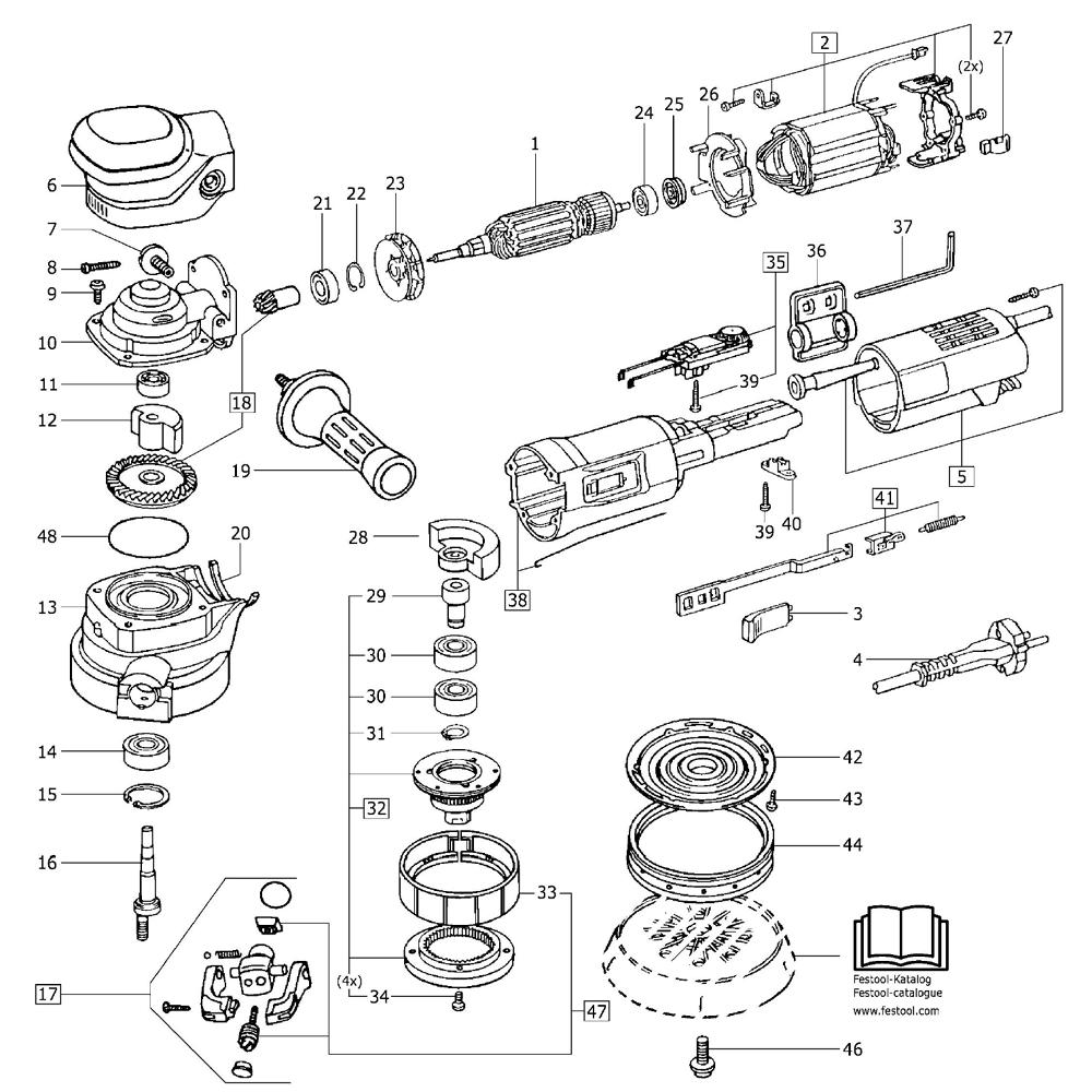 Buy Festool 489873 Ro 150 E 120v Replacement Tool Parts
