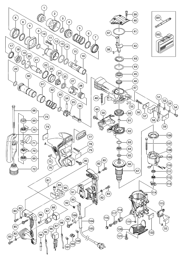 Hitachi 320807 Grip B H45MR H45MRY Replacement Part