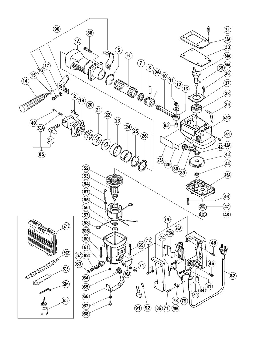 Hitachi 955006C Caution Plate H65 H85 Replacement Part