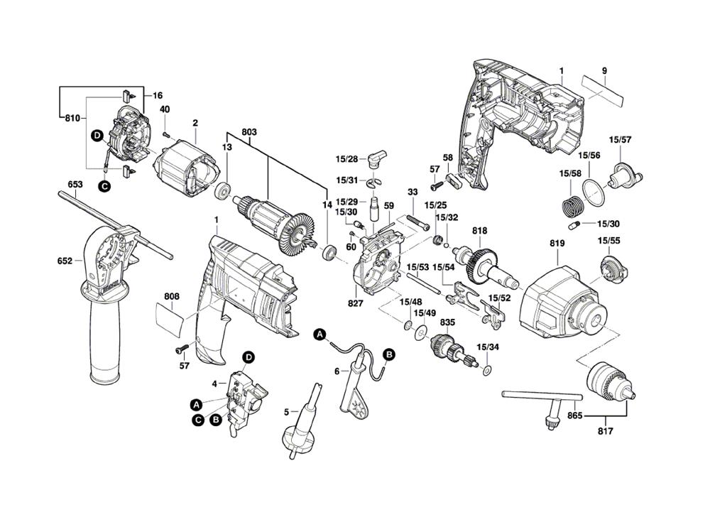 buy bosch hd18 2 3601aa2111 1 2 2 speed hammer drill. Black Bedroom Furniture Sets. Home Design Ideas