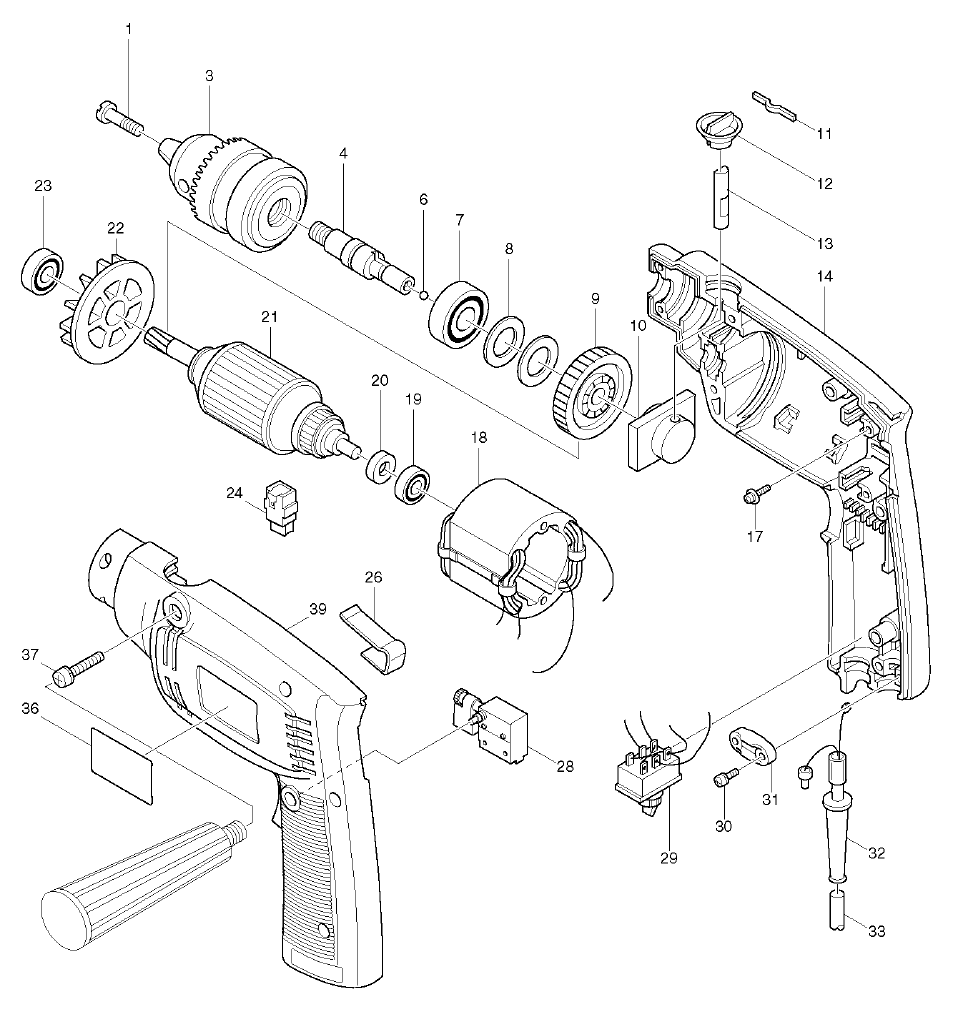 Buy Makita Hp1300s Replacement Tool Parts A Href Wilton Sbv100 List And Diagram Ereplacementpartscom Schematic