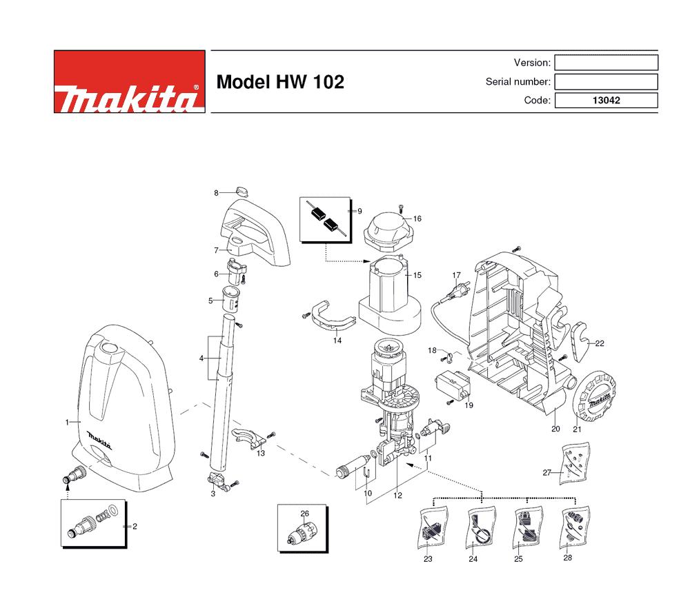 buy makita hw102 replacement tool parts