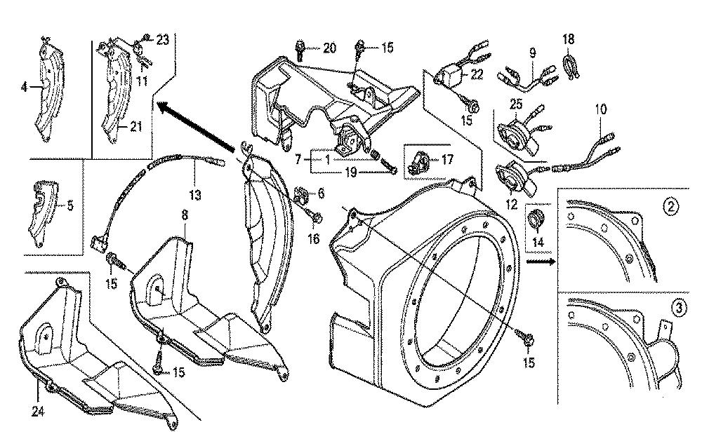 Honda GX200 Type NTU Parts Schematic