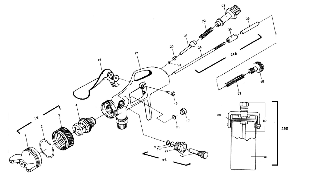 Diagram Of Parts Touch Up Spray Gun Electrical Drawing Wiring