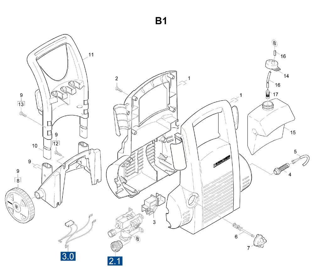 karcher spare parts diagrams
