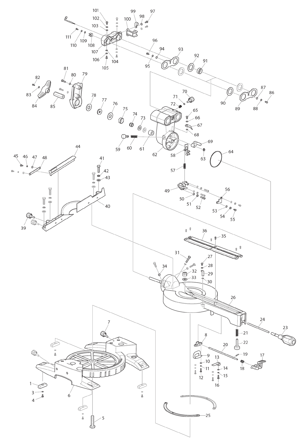 Buy Makita Ls0815f Replacement Tool Parts A Href Wilton 846 List And Diagram Ereplacementpartscom Schematic
