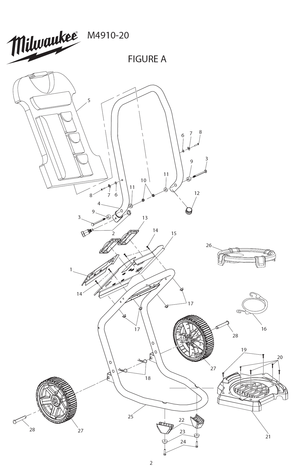 Buy Milwaukee M4910 20 Airless Finish Paint Sprayer Replacement Tool Schematic Parts
