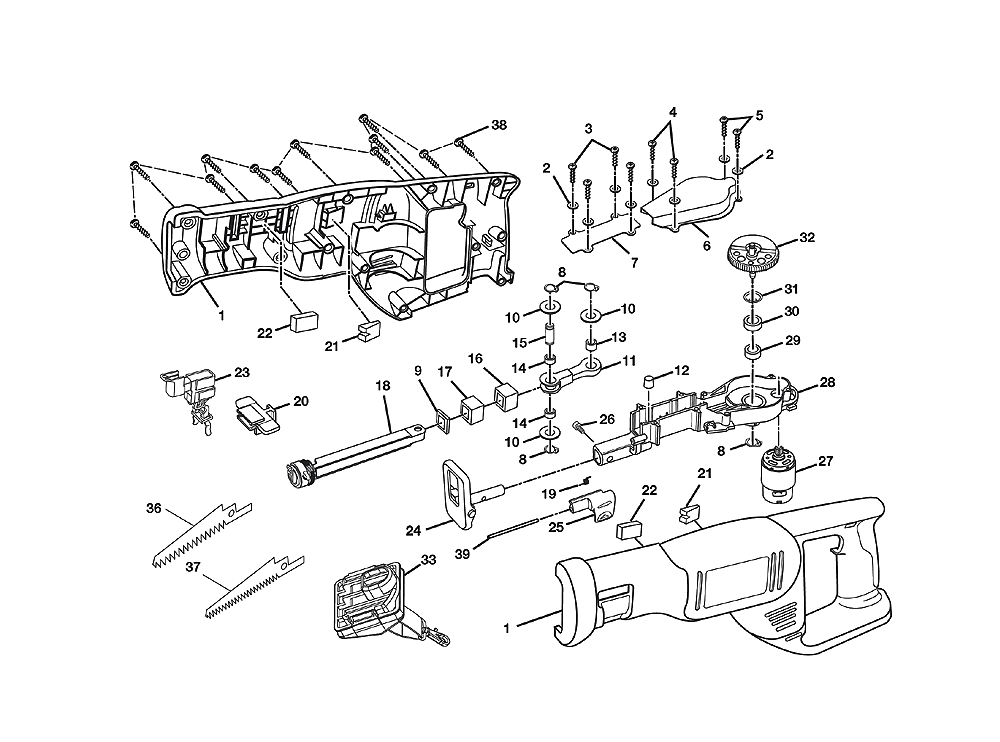 Buy Ryobi P510 Replacement Tool Parts