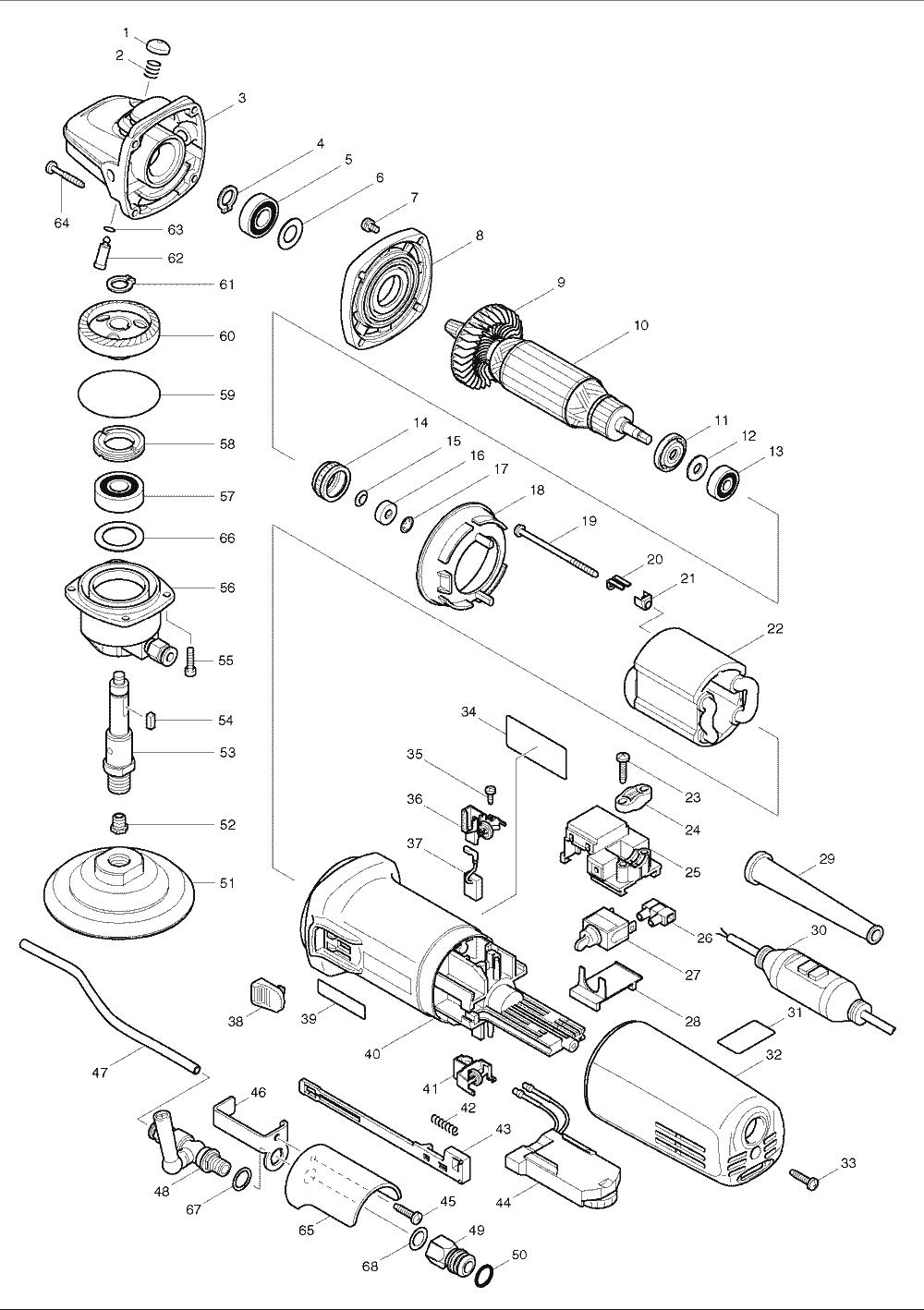Makita Polisher Cord Wiring Diagram on