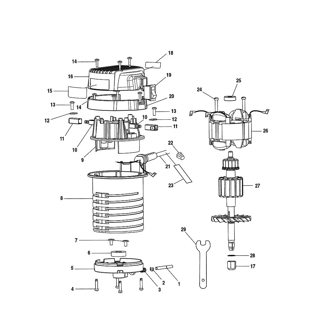 buy ryobi r1801m replacement tool parts