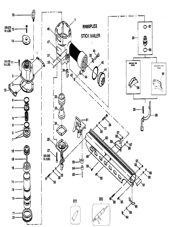 Buy Bostitch Rn90plex Replacement Tool Parts Bostitch