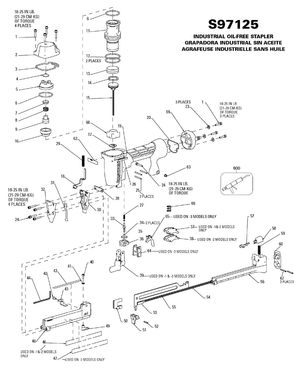 Buy Bostitch S97125 Replacement Tool Parts A Href Wilton Sbv100 List And Diagram Ereplacementpartscom Schematic